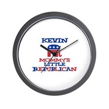 Kevin - Mommy's Little Republ Wall Clock
