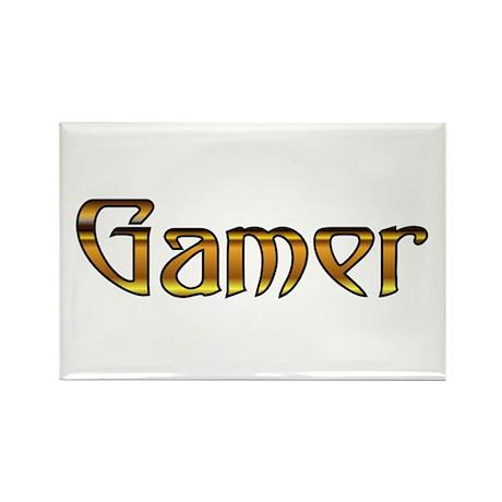 Gamer (Gold) Rectangle Magnet