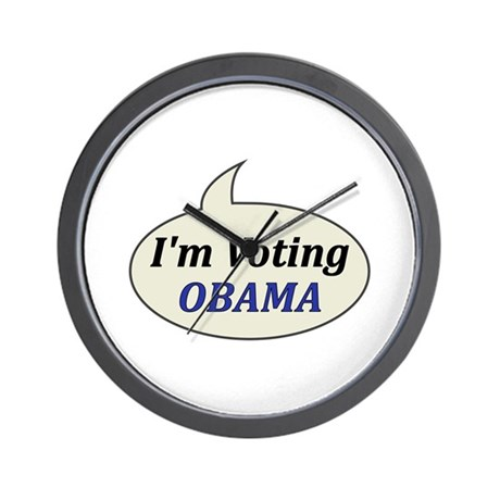 I'm Voting Obama Wall Clock