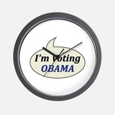 I'm Voting Obama Wall Clock