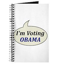 I'm Voting Obama Journal