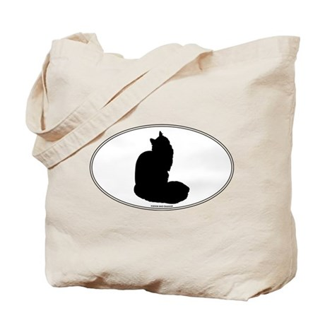 Maine Coon Silhouette Tote Bag