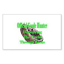 Geode Hunter Rectangle Bumper Stickers