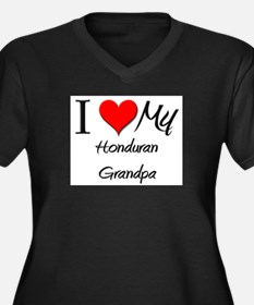 I Love My Honduran Grandpa Women's Plus Size V-Nec