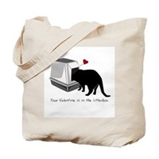 Litterbox Valentines Tote Bag