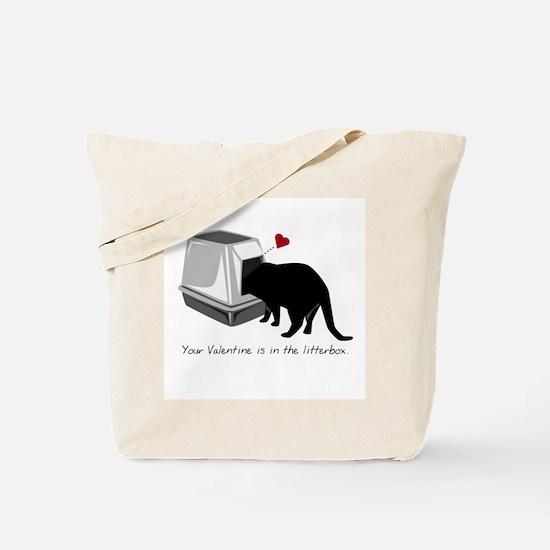 Litterbox Valentines Tote Bag