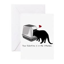 Litterbox Valentines Greeting Cards (Pk of 10)
