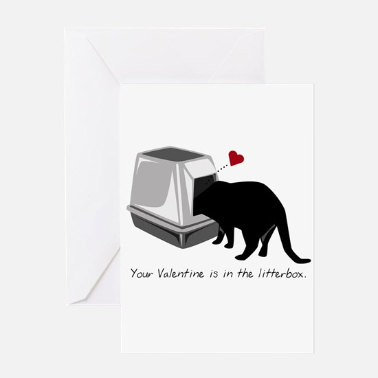 Litterbox Valentines Greeting Card