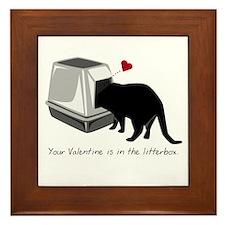 Litterbox Valentines Framed Tile
