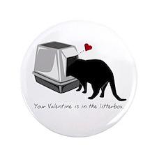 "Litterbox Valentines 3.5"" Button (100 pack)"