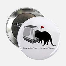 """Litterbox Valentines 2.25"""" Button"""