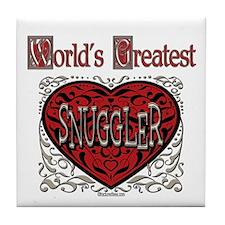 World's Best Snuggler Tile Coaster
