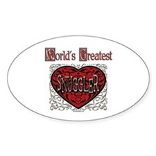 World's Best Snuggler Oval Decal