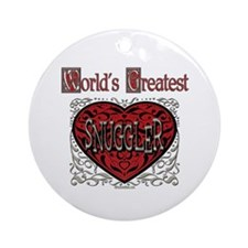 World's Best Snuggler Ornament (Round)