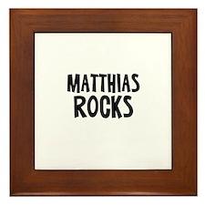 Matthias Rocks Framed Tile