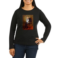 Lincoln's Corgi (Bl.M) Women's Long Sleeve Dark T-