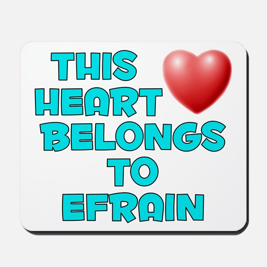 This Heart: Efrain (E) Mousepad