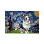 Starry Welsh Corgi (Bl.M) Rectangle Magnet (10 pac