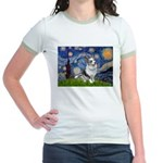 Starry Welsh Corgi (Bl.M) Jr. Ringer T-Shirt