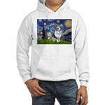 Starry Welsh Corgi (Bl.M) Hooded Sweatshirt