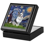 Starry Welsh Corgi (Bl.M) Keepsake Box