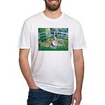 Bridge / Welsh Corgi (Bl.M) Fitted T-Shirt