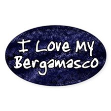 Funky Love Bergamasco Oval Decal