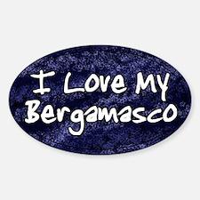 Funky Love Bergamasco Oval Decal