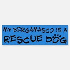 Rescue Dog Bergamasco Bumper Bumper Bumper Sticker