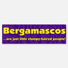Furry People Bergamasco Bumper Bumper Bumper Sticker