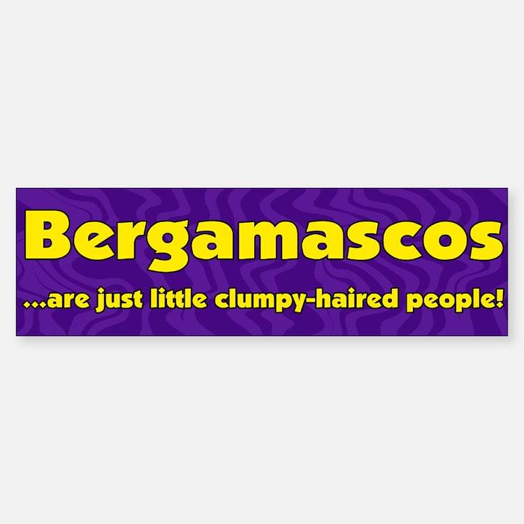 Furry People Bergamasco Bumper Bumper Bumper Sticker