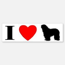 I Love Bergamascos Bumper Bumper Bumper Sticker