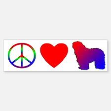 Peace, Love, Bergamasco Bumper Bumper Bumper Sticker