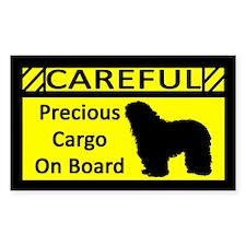 Precious Cargo Bergamasco Sticker (Rect)