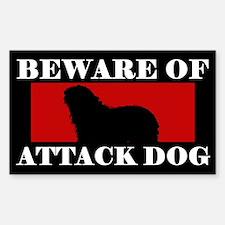 Beware of Attack Dog Bergamasco Decal