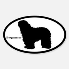 Bergamasco Silhouette Oval Decal
