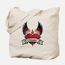 Moms Rock Winged Heart Tote Bag
