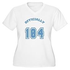 Officially 104 Women's Plus Size V-Neck T-Shirt