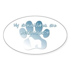 Bergamasco Grandchildren Oval Decal