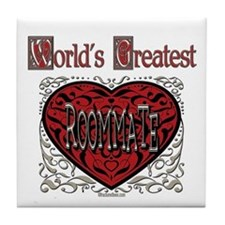 World's Best Roommate Tile Coaster