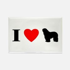 I Heart Bergamasco Rectangle Magnet