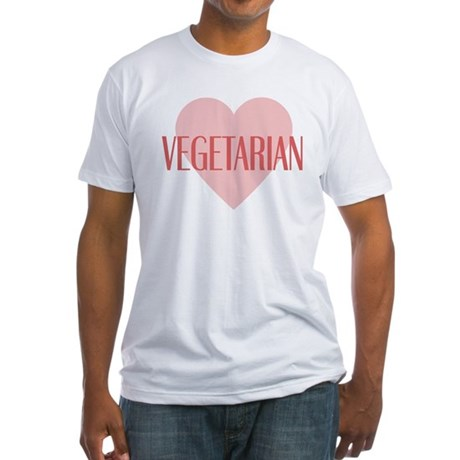 Love Vegetarian Fitted T-Shirt