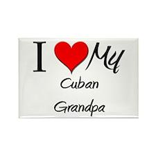 I Love My Cuban Grandpa Rectangle Magnet