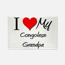 I Love My Congolese Grandpa Rectangle Magnet