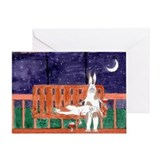 Wedding rabbit bunny card Greeting Cards