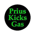 """Prius Kicks Gas Dark 3.5"""" Button"""