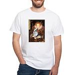 The Queen's Corgi (Bl.M) White T-Shirt