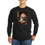 The Queen's Corgi (Bl.M) Long Sleeve Dark T-Shirt