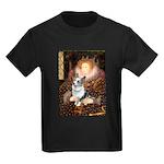 The Queen's Corgi (Bl.M) Kids Dark T-Shirt