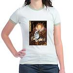 The Queen's Corgi (Bl.M) Jr. Ringer T-Shirt